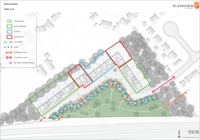 planning permission for 28 new homes outside settlement boundary