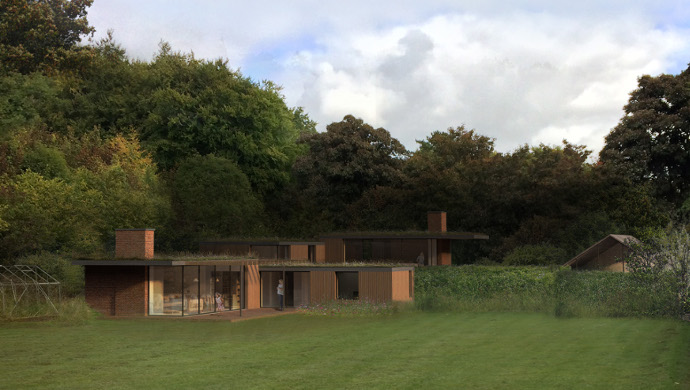 replacement housing in green belt architect designed