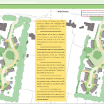 Indicative layouts for 7 dwellings outside settlement boundary