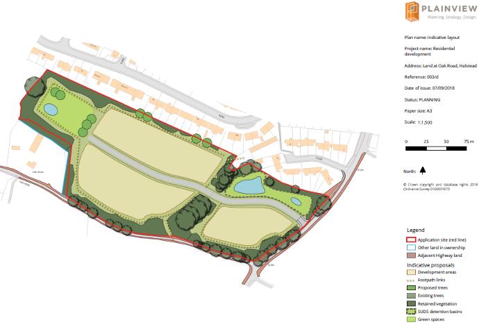 development proposals for 50 dwellings