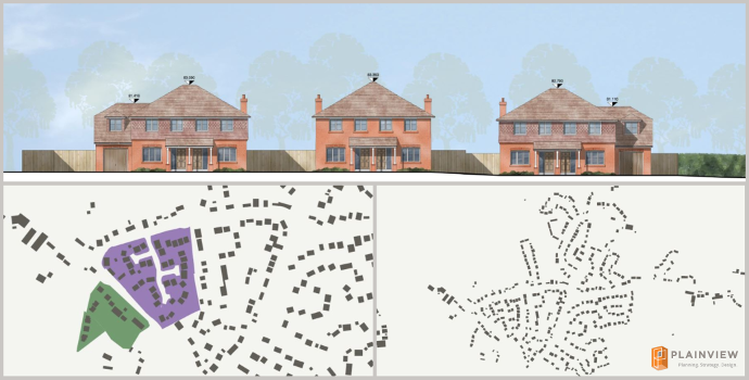 Mapping data and street scene for 6 dwelling planning appeal