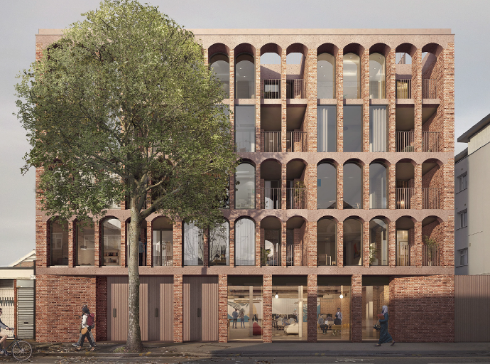 CGI of 26 flats designed by Architecture for London