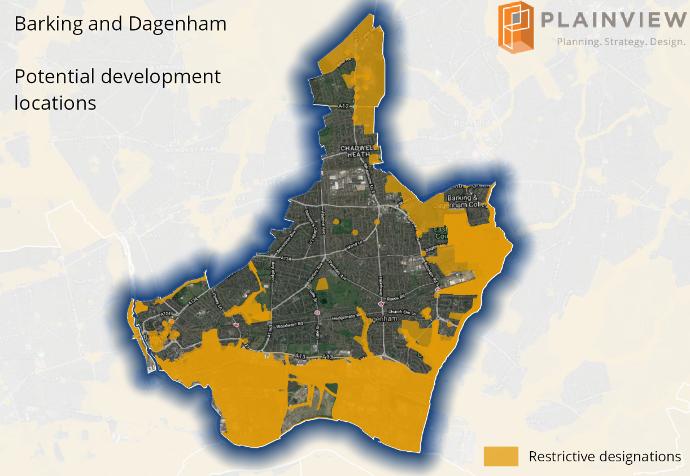GIS mapping for development opportunities in Barking and Dagenham