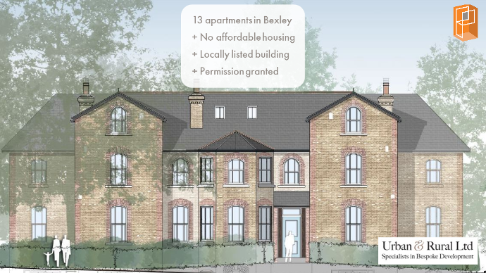 Planning secured for 13 flats at locally listed building