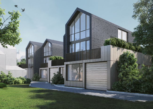 proposed design for three dwellings by Carbon Creative