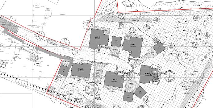 5 residential dwelling on edge of settlement boundary