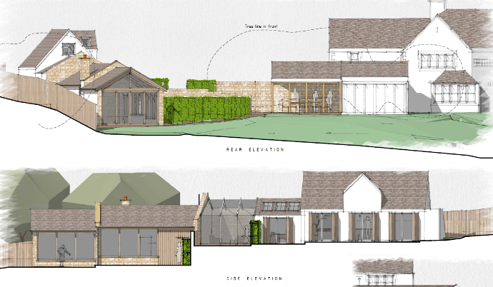 architect designed extension in Cotswold AONB