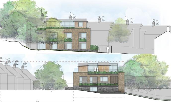 backland development apartments flats