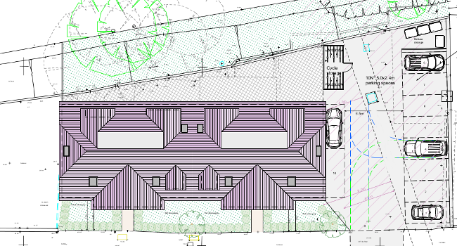 site plan of flatted development