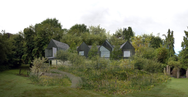Architect designed replacement dwelling in green belt