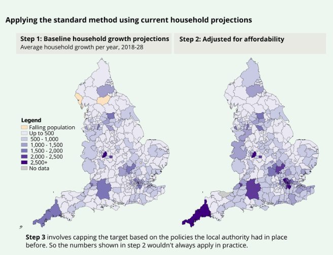 Recent ONS figures and housing need