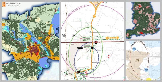 Maps and analysis for planning technology