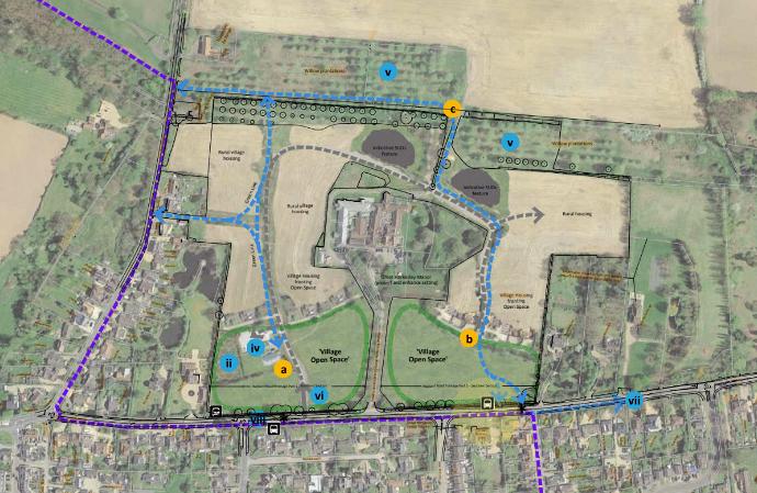 plan for development proposal for 80 dwellings