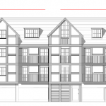 Redevelopment of town centre site for housing and retail and upward extension