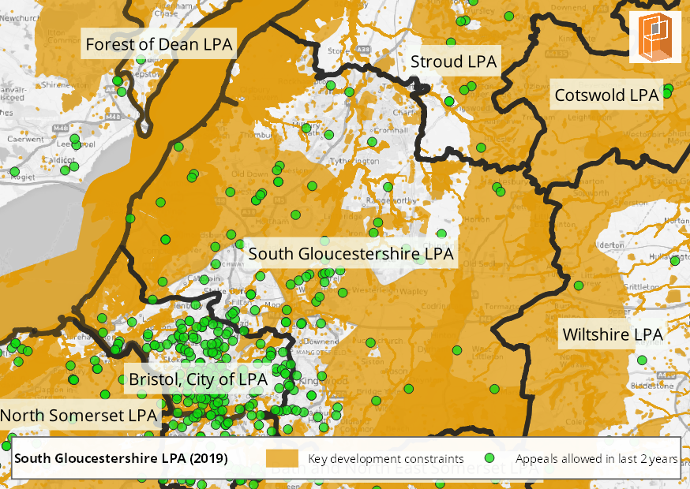 South Gloucestershire Development Constraints and Opportunities Map