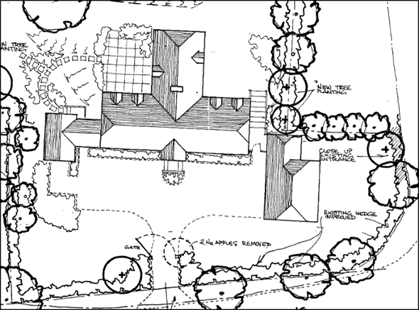 sketch of site and annexe accommodation