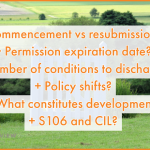 considerations for commencing or renewing planning permission