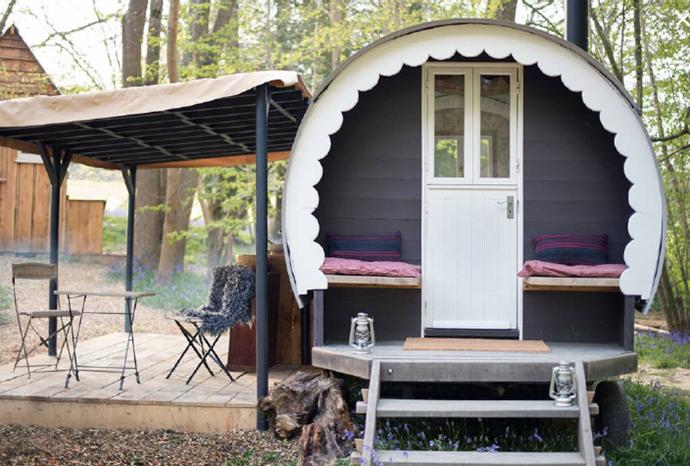 Shepherd's hut rural glamping site